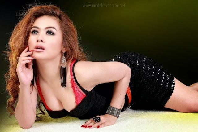 Shwe Sin - Attractive Studio Photoshoot
