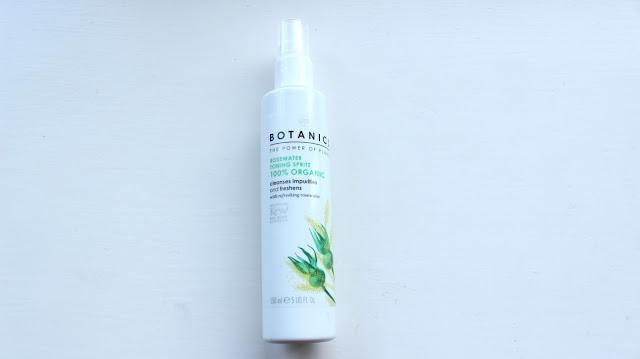 boots botanics 100% organics rosewater toning spritz
