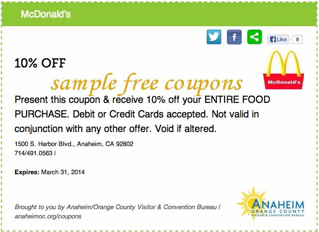Discount coupons for mcdonalds delhi