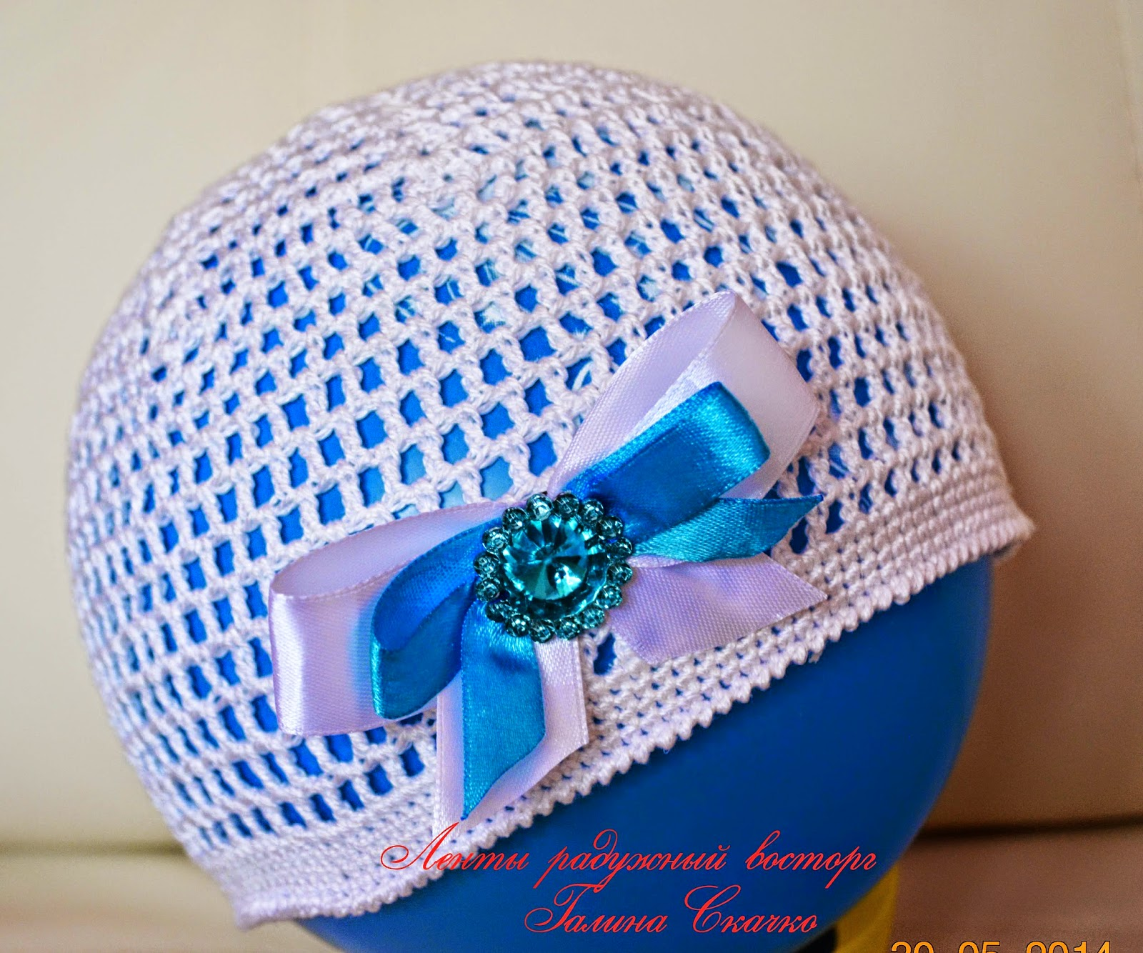 Летняя шляпка связанная крючком, шляпка для девочки