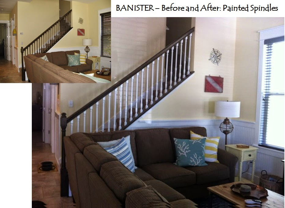 BANISTER - PAINTED WHITE SPINDLES