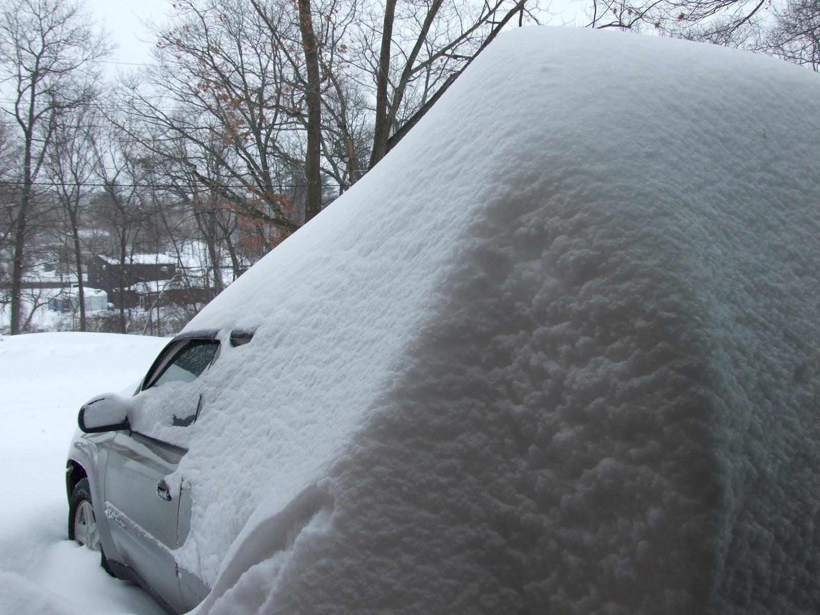 Snow Drift Granite : From beyond my kitchen window february