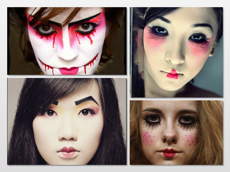taken by surprise tutorial scary geisha makeup