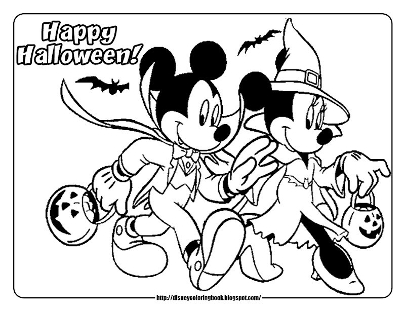 Mickey and Friends Halloween 2: Free Disney Halloween Coloring Pages title=