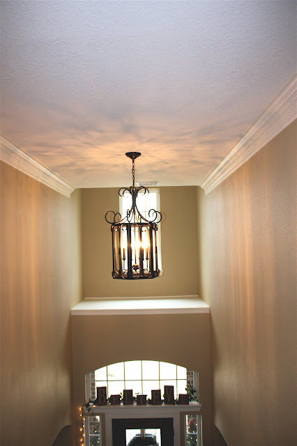 Foyer Lighting-Two Story Foyer-Famrhouse Charm-From My Front Porch To Yours