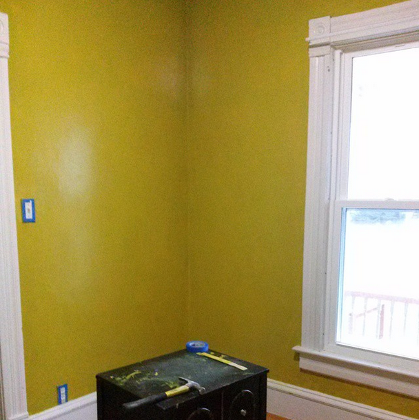 the lovely side: office / writing room progress: walls painted