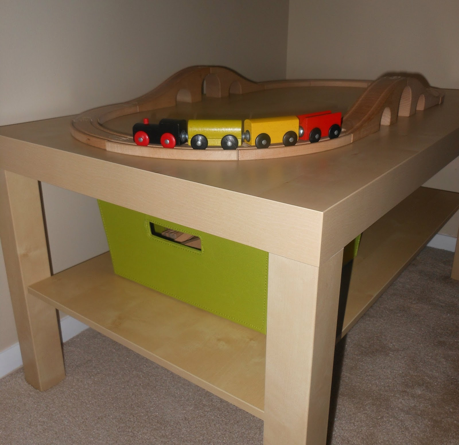 Train coffee table home and never alone summertime diy lego and train tables geotapseo Choice Image