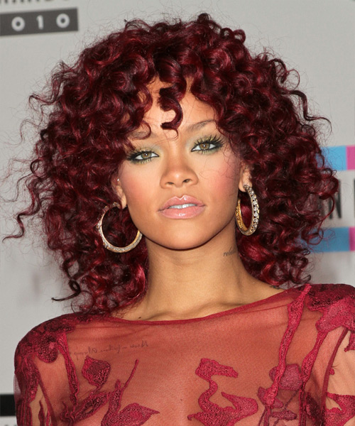 Gejegor Wallpapers New Rihanna Red Hair Curly
