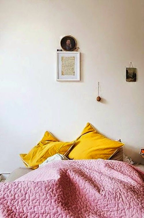 dream home - pops of color in bedroom