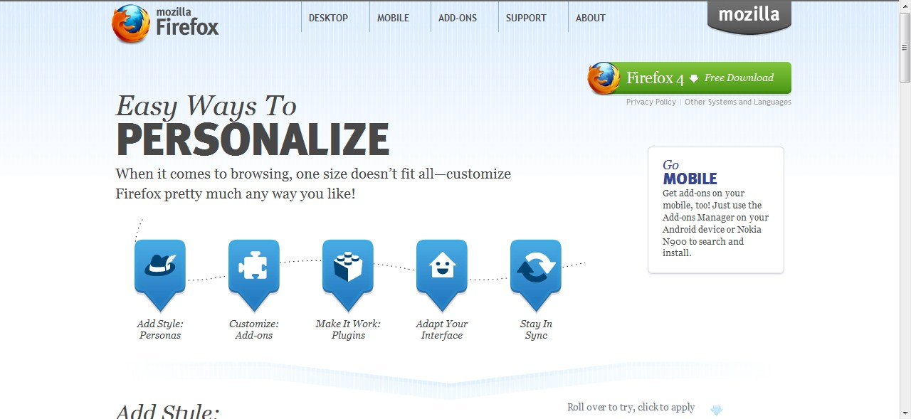 Polaris Memoirs Design Customize Your Mozilla And And Your Google Homepage