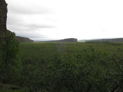 Asbyrgi from afar, Iceland