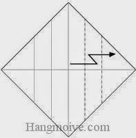 Bước 5: Gấp gấp khúc góc giấy.