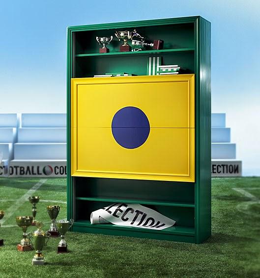 El Mundial de Futbol llega a la decoración Mueble seleccion brasil