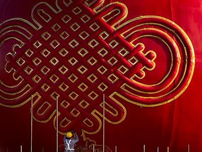 Festa nazionale in Cina, una lanterna rossa illumina Piazza Tiananmen...