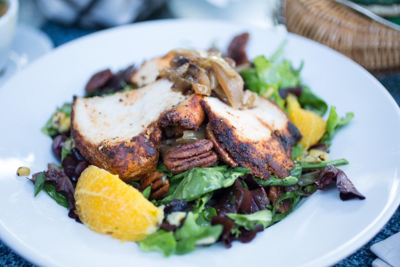 Disneyland Food Blog- Cafe Orleans Crescent City Salad with Blackened Chicken