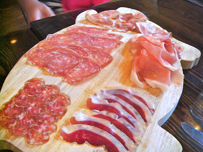 Chef's choice salumi platter at Coppa, Boston, Mass.