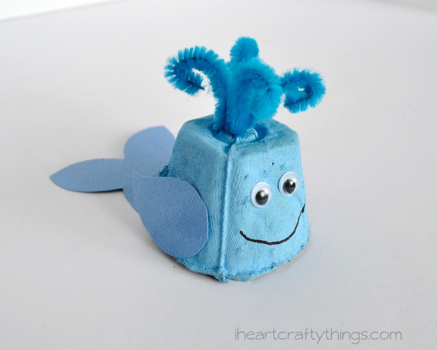 i heart crafty things egg carton whale kids craft