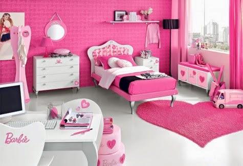 kamar tidur anak perempuan pink