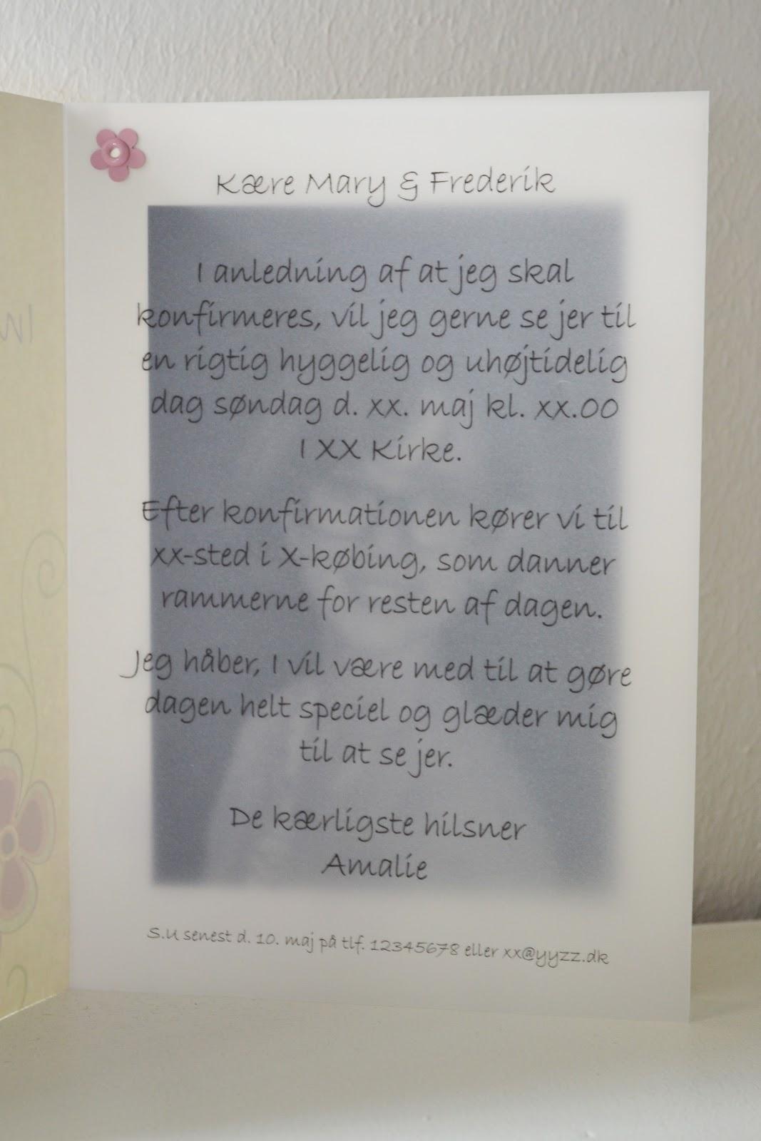 Happymade Invitation Til Konfirmation Lavet Helt Uden Bigshot