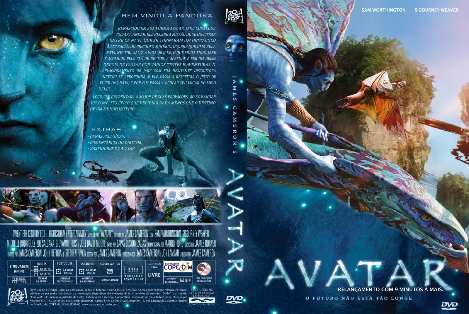 Avatar Versão Estendida BluRay 720p Dublado Avatar  2528capa 1 2529