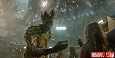 Image of Groot in Guardians of the galaxy