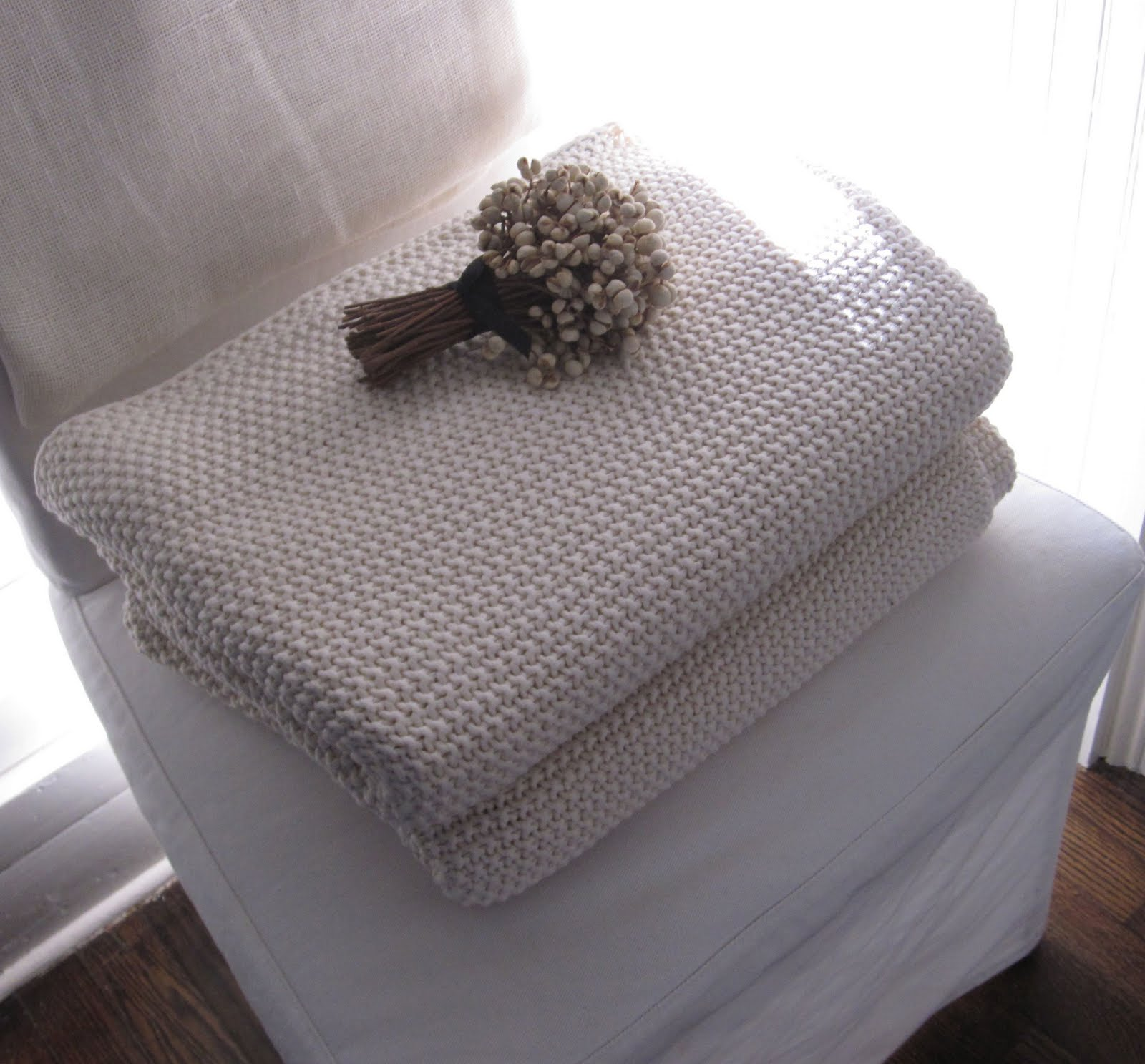 The New General Store: Cream Knit Blanket