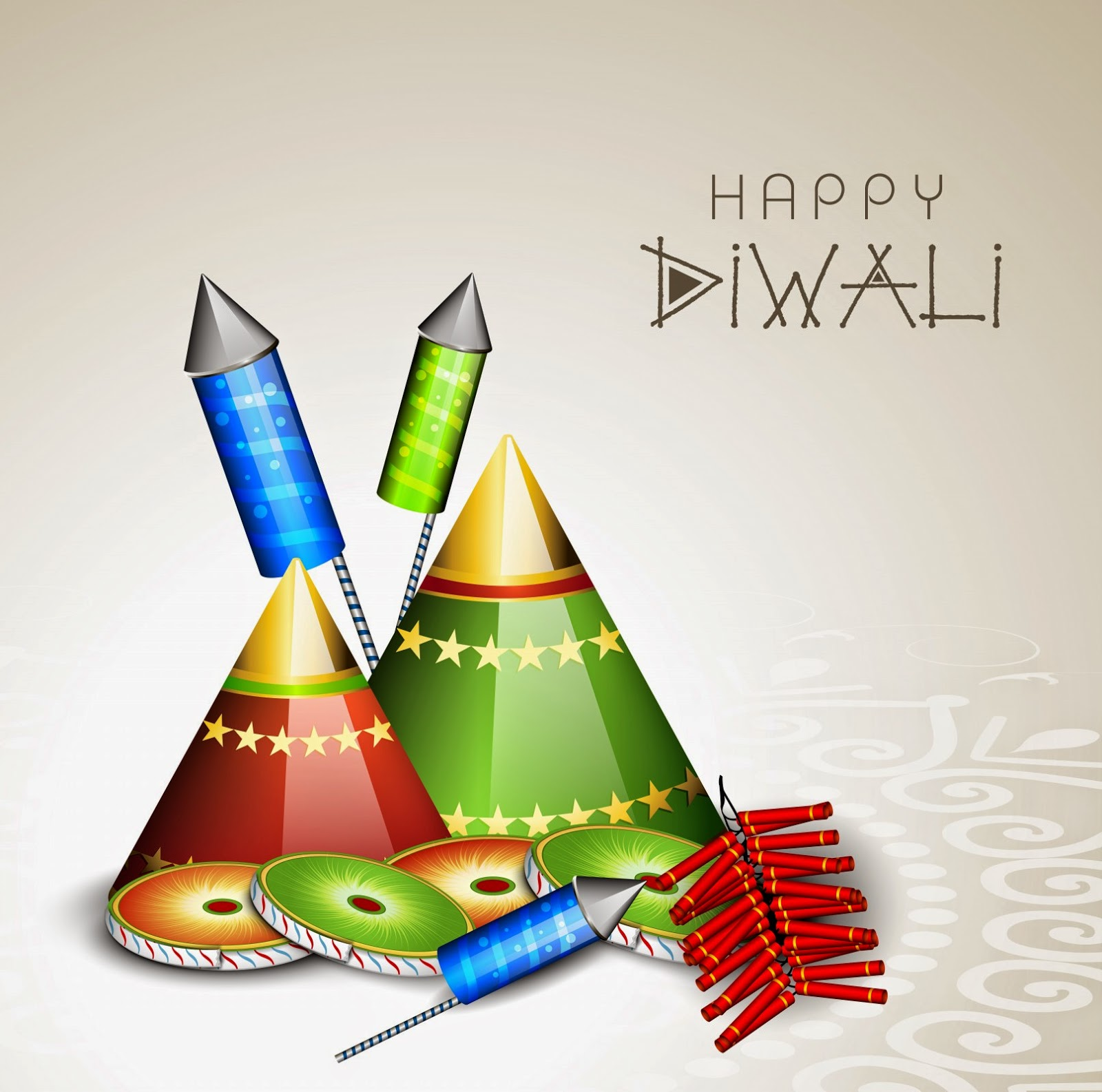 Happy Diwali with fireworks and Cracker (Wallpaper groups)