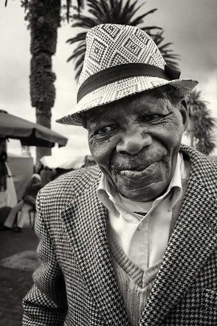 A portrait of an elderly man in Cape Town - a street photograph