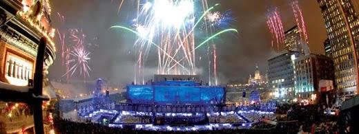 Happy New Year 2014 Countdown Québec, Canada