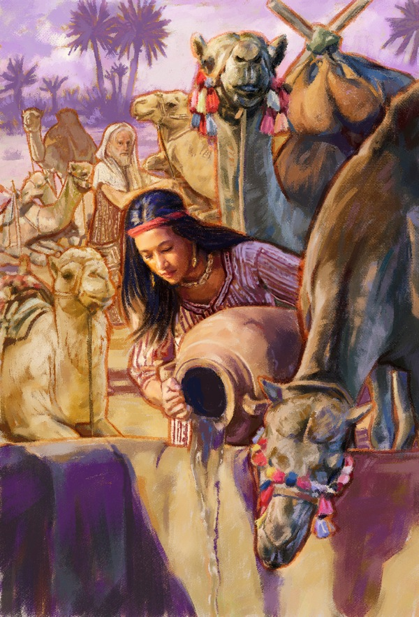 Rebekah described as very beautiful, more than a caring heart, drew water, not only for the servant but also for the camel's. Supplying water for thirsty camels is a very demanding job.