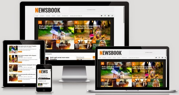 NewsBook Responsive Blogger Template Free Download