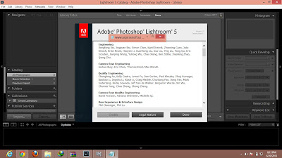 Screenshot Adobe Photoshop Lightroom CS 5