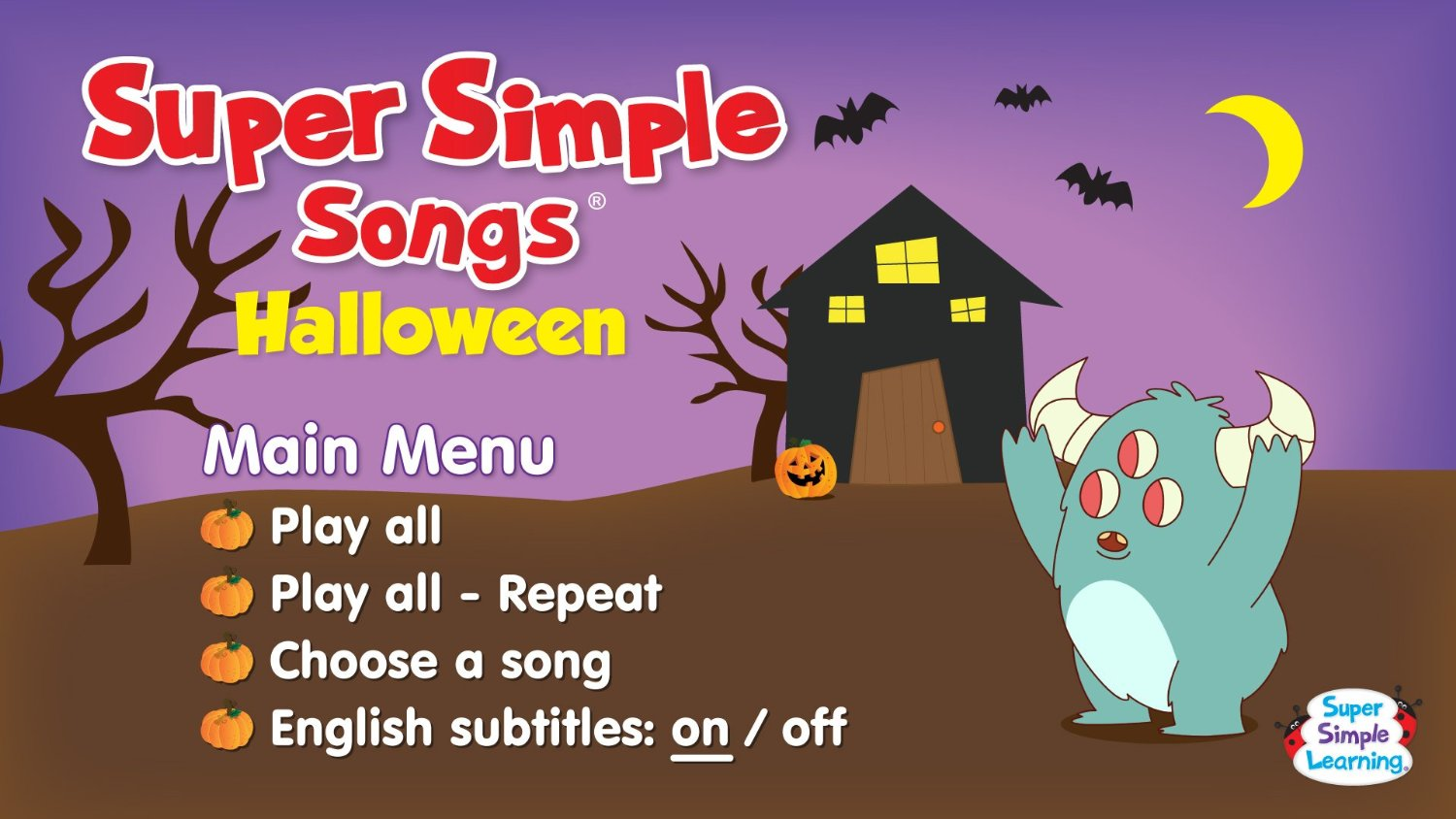 halloween galaxy: halloween music: super simple songs halloween dvd