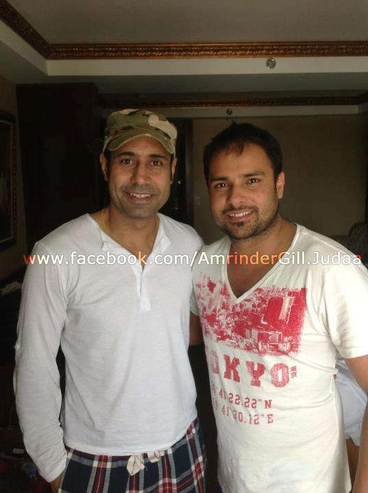 Amrinder Gill With Binnu Dhillon - Pic