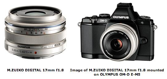nuevo lente, olympus, zuiko, digital, olympus digital, 17mm f1.8, f/1.8