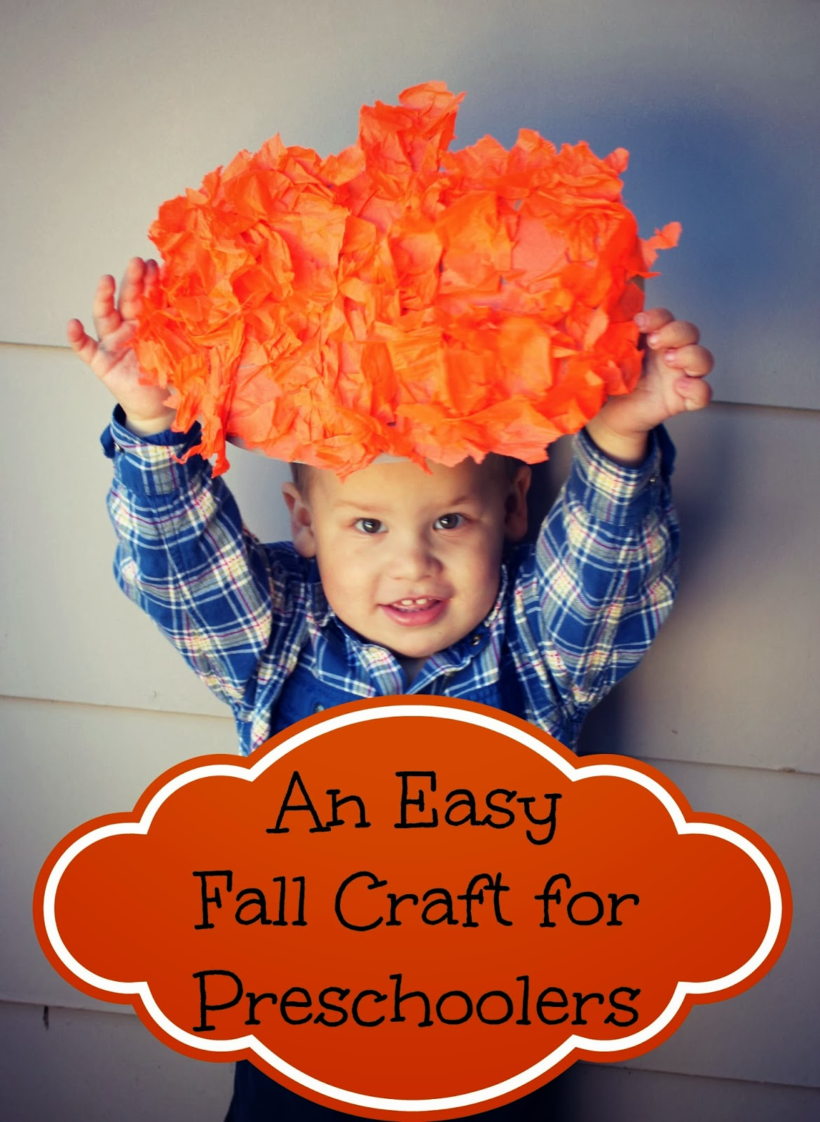an easy fall pumpkin craft for toddlers and preschoolers bare feet