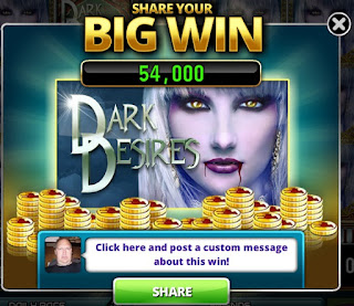 Big win with the white-haired vampiress from Dark Desires Slots game