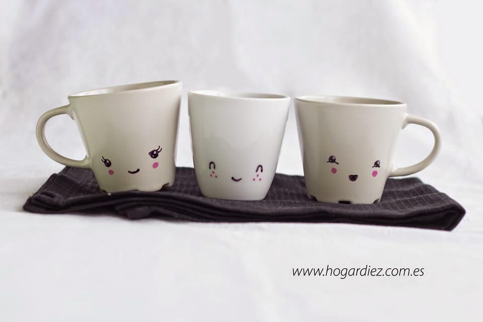 T cnicas y diy para personalizar tazas decoraci n - Tazas decoradas a mano ...