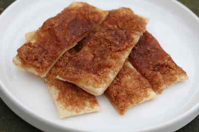 puff pastry sticks with brown sugar and cinnamon