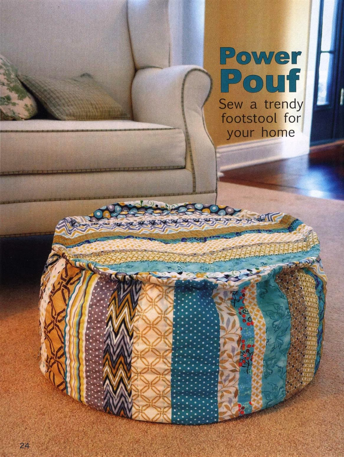 Power Pouf. Sew a trendy footstool for your home
