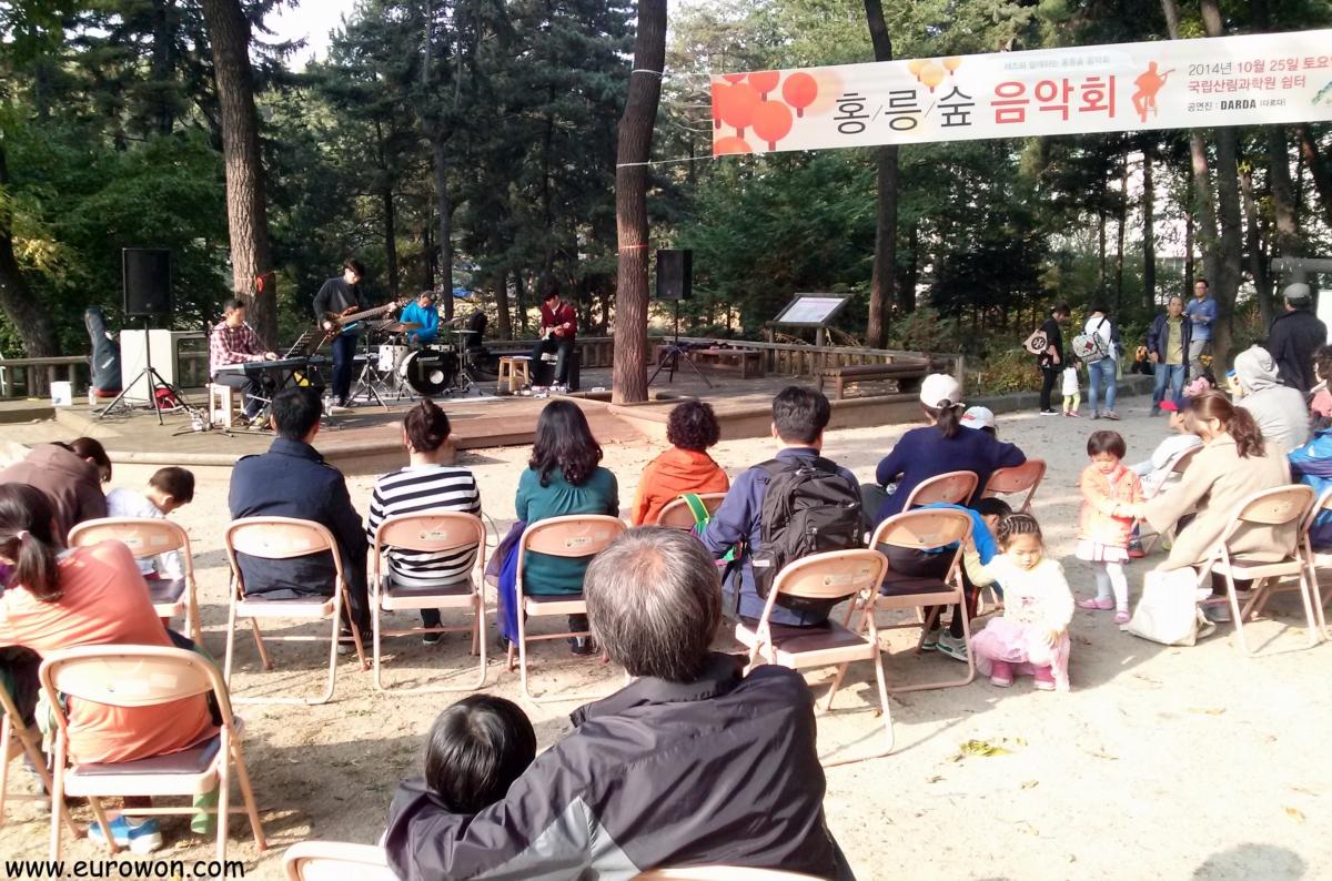 Concierto de jazz en el Arboreto Hongneung de Seúl