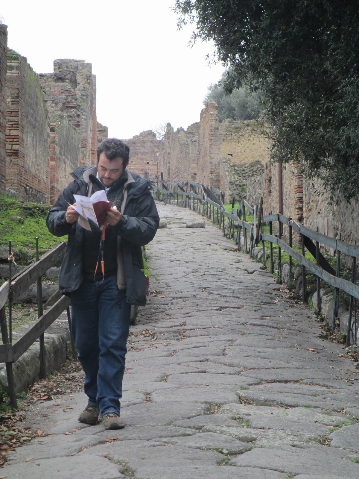 El plano de Pompeya, fundamental en las visitas no guiadas