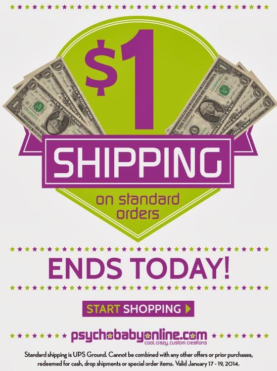 Ship for just $1 till midnight tonight!