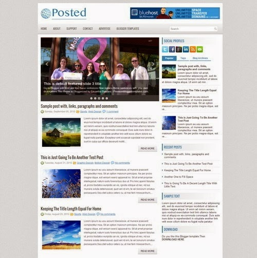 Posted Blogger Template