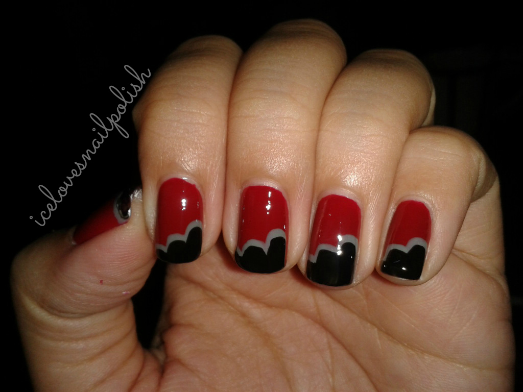 Cute Nail Designs With Red And Black: Nail d polish kiss halloween ...