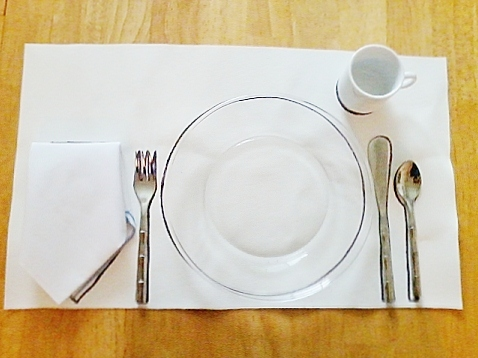 table setting. This is a one person ... & montessori workjobs: table setting