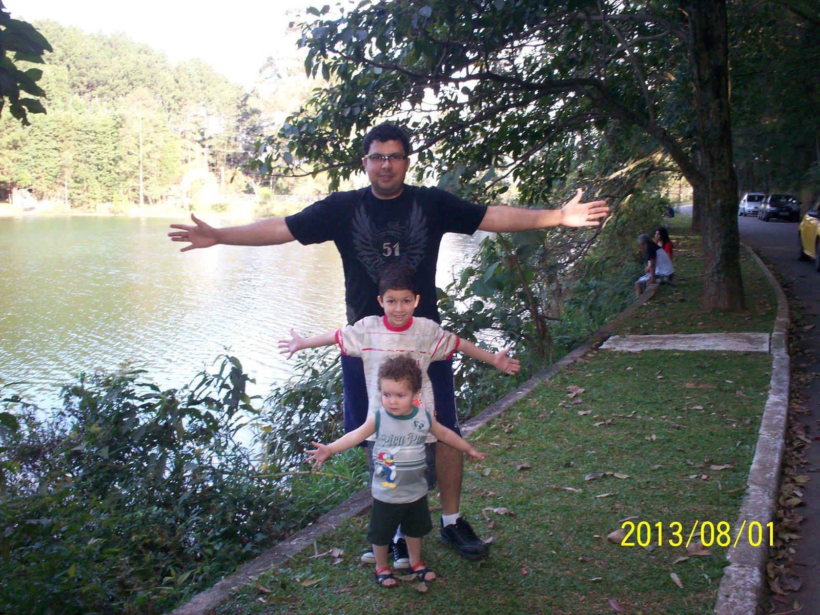 Eu com meus filhos