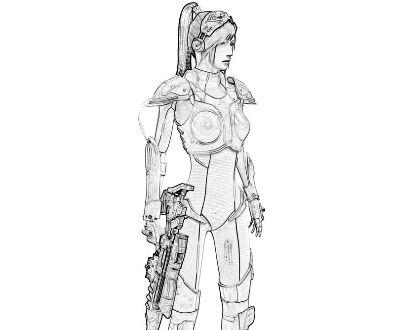 Starcraft ii heart of the swarm sarah kerrigan art surfing for Starcraft coloring pages