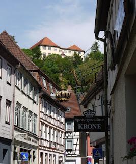 Das Schloss oberhalb der Altstadt von Neuenbürg