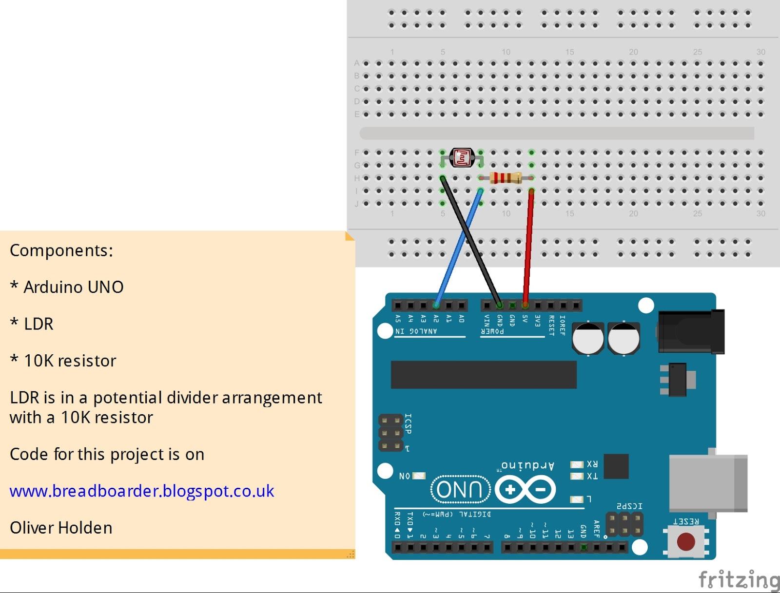 Breadboarders: Arduino with a LDR - PLX-DAQ Excel spreadsheet